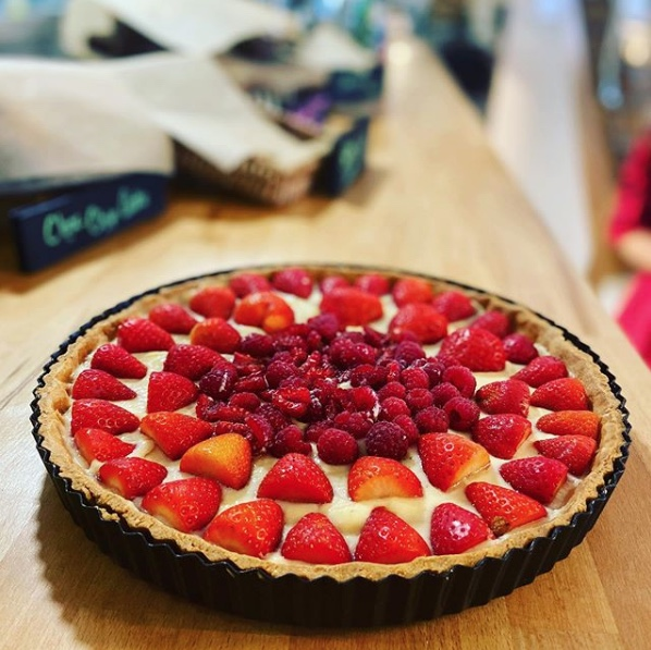 Forage Strawberry Tart