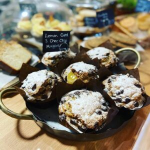 Forage at Wadswick - Lemon Curd Choc Chip Muffins