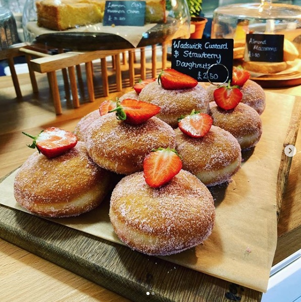 Forage at Wadswick - Strawberry and Custard Donuts